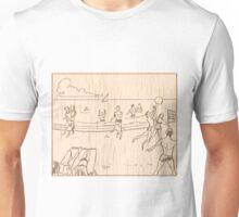 An Trá/The Beach Woodblock reimagining Unisex T-Shirt