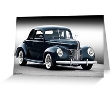1940 Ford Deluxe Coupe 'Studio' Greeting Card