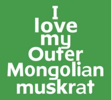 I love my Outer Mongolian muskrat by onebaretree