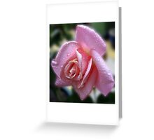 The Magic of Raindrops - Rose in the Rain Greeting Card