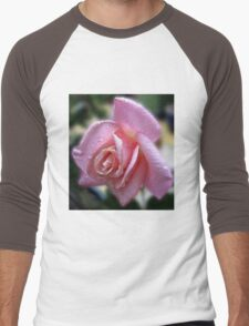 The Magic of Raindrops - Rose in the Rain Men's Baseball ¾ T-Shirt