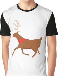 Reindeer Design Graphic T-Shirt