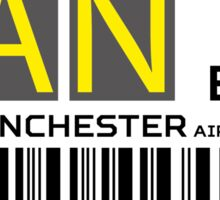 Destination Manchester Airport Sticker