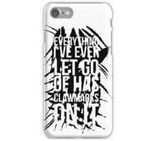 Krallenspuren (Schwarz) iPhone Case/Skin