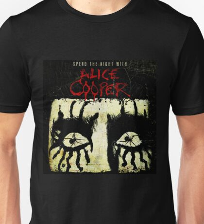 ALICE COOPER SPEND THE NIGHT WITH PUJOBAYU Unisex T-Shirt
