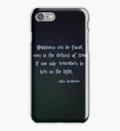 Harry Potter, Dumbledore quote iPhone Case/Skin