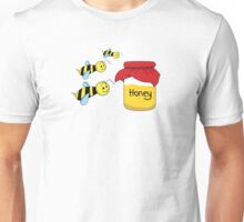 Bees and honey in the jar Unisex T-Shirt