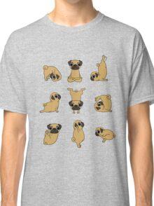 Funny Yoga Pugs Dogs Meditation Chakra Hatha Gift Shirt Classic T-Shirt