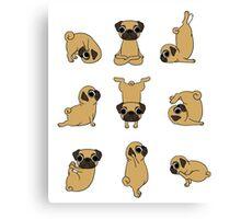 Funny Yoga Pugs Dogs Meditation Chakra Hatha Gift Shirt Canvas Print