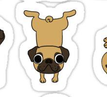 Funny Yoga Pugs Dogs Meditation Chakra Hatha Gift Shirt Sticker