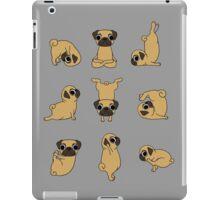 Funny Yoga Pugs Dogs Meditation Chakra Hatha Gift Shirt iPad Case/Skin