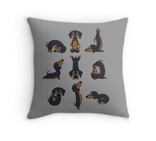 Funny Yoga Dachshund Dogs Meditation Chakra Hatha Gift Shirt Throw Pillow