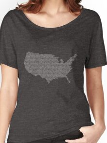 America Constitution Shape Map Women's Relaxed Fit T-Shirt