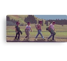 Stand By Me - A Pixel Art Tribute Canvas Print
