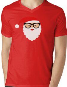 Nerd/Hipster Santa Mens V-Neck T-Shirt