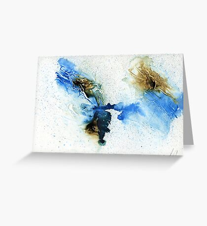 Cyan & sepia abstract  Greeting Card