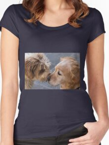 cute dog Women's Fitted Scoop T-Shirt