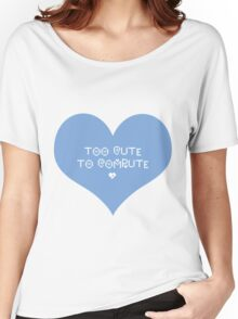 Too Cute [BLUE] Women's Relaxed Fit T-Shirt