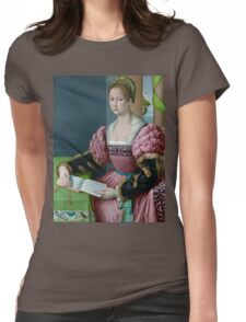 Portrait of a Woman with a Book of Music - Bacchiacca - ca. 1540 Womens Fitted T-Shirt