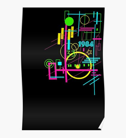 Abstract 80s Poster