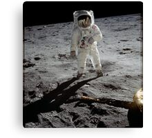 Buzz Aldrin on the moon | Space Canvas Print