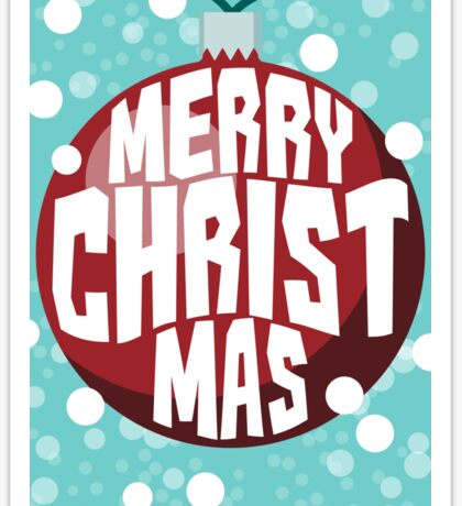 Bauble Christmas Card Sticker