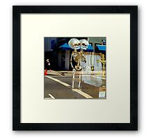 Look Both Ways When Crossing Framed Print