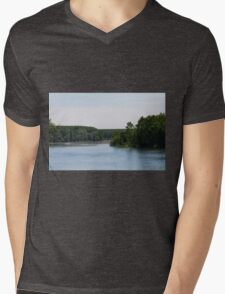 river landscape Mens V-Neck T-Shirt