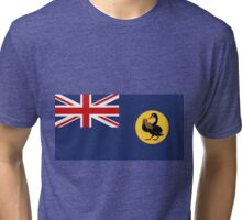 The Fighting State Flag of Western Australia Tri-blend T-Shirt