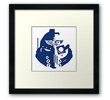Space Marine Helmet Framed Print