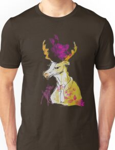nerd christmas Elch rentier hirsch vintage rose hipster Unisex T-Shirt