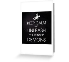 Unleash Your Demons Greeting Card