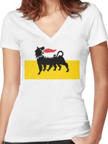 Flag of Eni Women's Fitted V-Neck T-Shirt