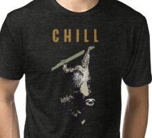 faultier slow chill out faulenzen abhängen nerd geek grinsen Tri-blend T-Shirt