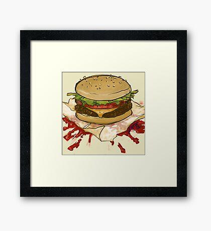 Ketchup Murder Framed Print