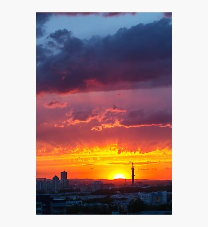 Epic Dramatic Sunset Sky Photographic Print