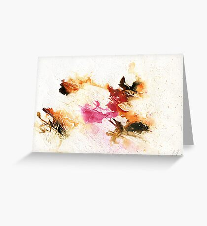 Orange and pink abstract Greeting Card