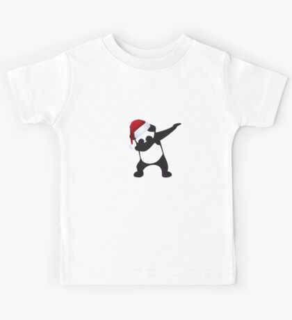 DAB PANDA dab on em christmas dabber dance football touch down red Kids Tee