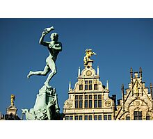 Belgian Architecture/Brawny Man - Travel Photography Photographic Print
