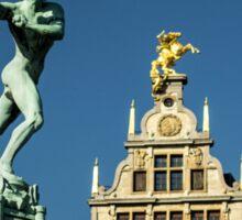Belgian Architecture/Brawny Man - Travel Photography Sticker