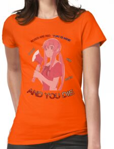 Yuno Roses Are Red Anime Manga Shirt Womens Fitted T-Shirt