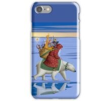 Santa on polar bear iPhone Case/Skin