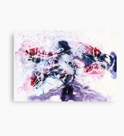 Purple, blue and pink abstract  Canvas Print