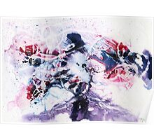 Purple, blue and pink abstract  Poster