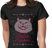 meowy christmas #2 Womens Fitted T-Shirt