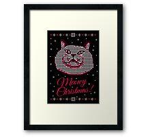 meowy christmas #2 Framed Print