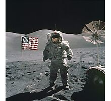 Man on the moon   Space Photographic Print