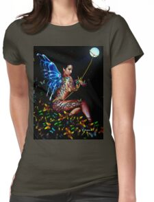 TRIBUTE TO AMY WINEHOUSE, by E. Giupponi Womens Fitted T-Shirt