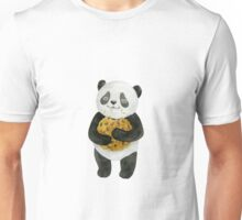 happy panda with cookie Unisex T-Shirt
