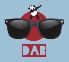 DAB PANDA dab on em dabber dance football touch down red Kids Tee